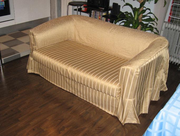 Как сшить чехол на диван на резинке